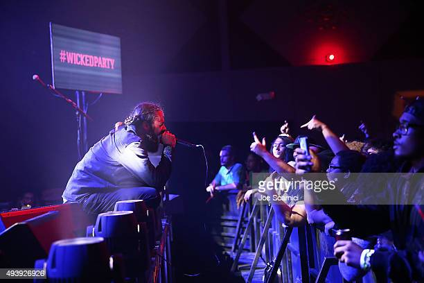 Jason Aalon of Letlive performs onstage at 'The Most Wicked Party' event in Los Angeles hosted by Redd's Wicked Apple the final of a fourpart series...