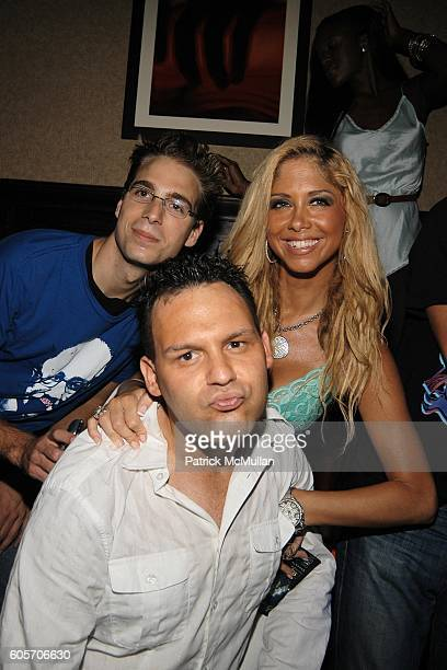 Jason Abrahms and Samantha Cole attend DJ CASSIDY Birthday Party at The PLUMM on July 12 2006 in New York City