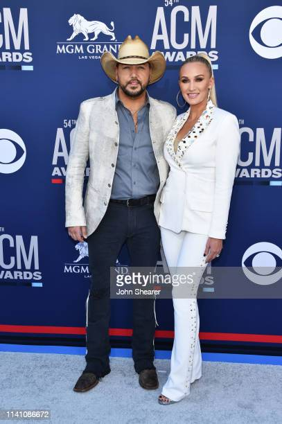 Jason Aldean and Brittany Aldean attend the 54th Academy Of Country Music Awards at MGM Grand Hotel & Casino on April 07, 2019 in Las Vegas, Nevada.