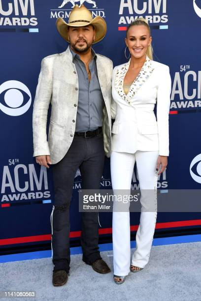 Jason Aldean and Brittany Aldean attends the 54th Academy Of Country Music Awards at MGM Grand Hotel Casino on April 07 2019 in Las Vegas Nevada