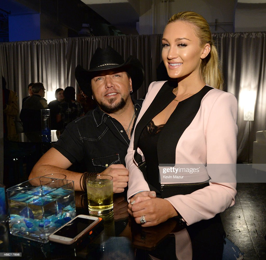 Jason Aldean and Brittany Kerr attend the Tidal launch event #TIDALforALL at Skylight at Moynihan Station on March 30, 2015 in New York City.