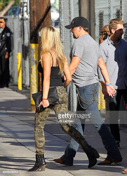 Jason Aldean and Jessica Aldean are seen at 'Jimmy Kimmel Live' on September 22, 2014 in Los Angeles, California.