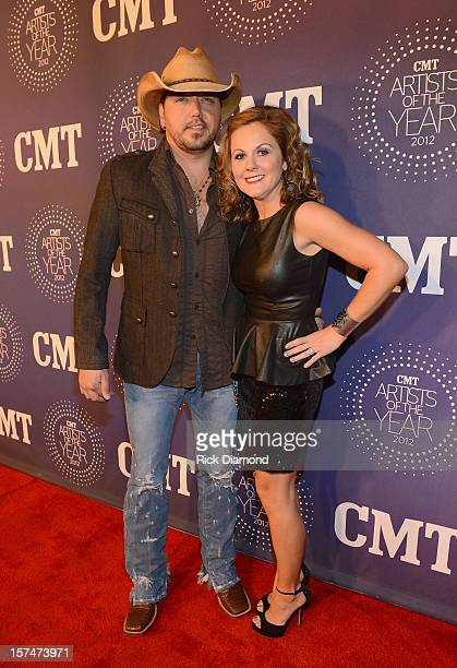 Jason Aldean and Jessica Ussery Aldean attend the 2012 CMT Artists Of The Year at The Factory at Franklin on December 3 2012 in Franklin Tennessee