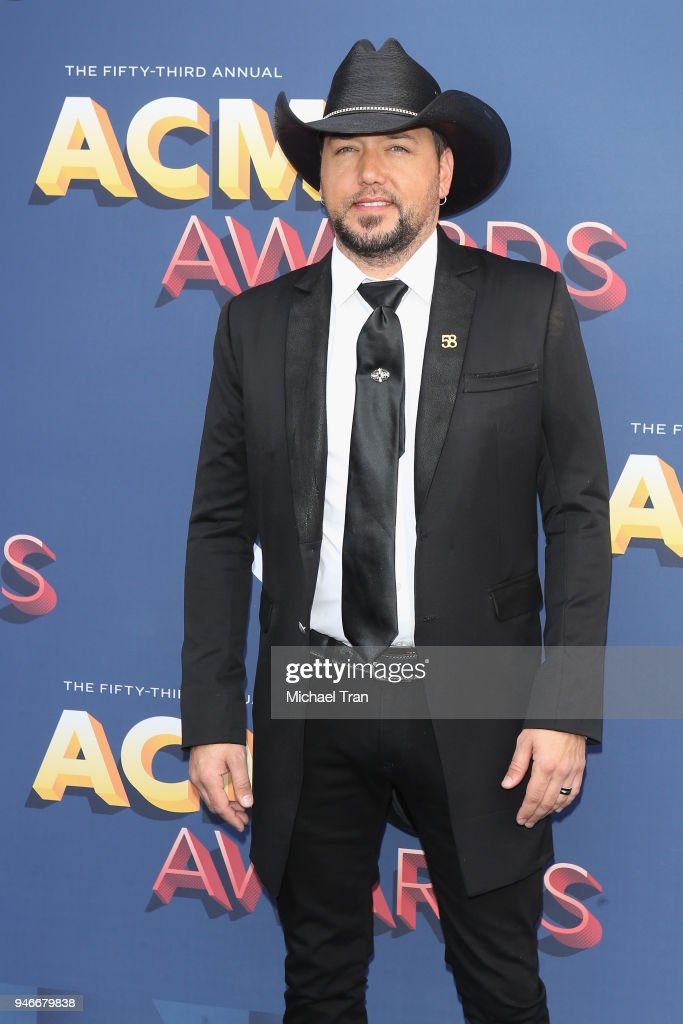 Jason Aldean attends the 53rd Academy of Country Music Awards at MGM Grand Garden Arena on April 15, 2018 in Las Vegas, Nevada.
