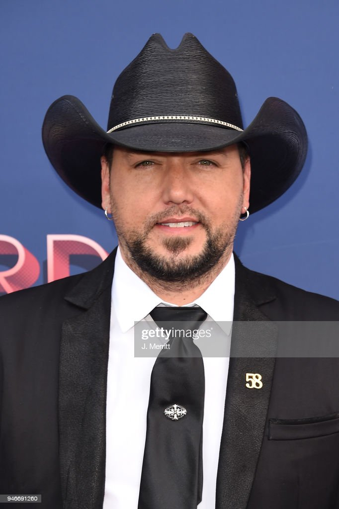 Jason Aldean attends the 53rd Academy of Country Music Awards at the MGM Grand Garden Arena on April 15, 2018 in Las Vegas, Nevada.