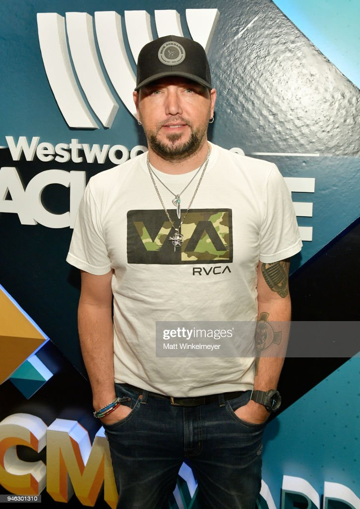 Jason Aldean attends the 53rd Academy of Country Music Awards Cumulus/Westwood One Radio Remotes at MGM Grand Garden Arena on April 14, 2018 in Las Vegas, Nevada.