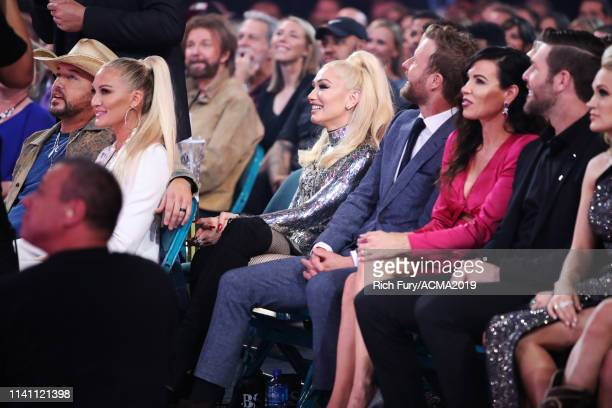 Jason Aldean Brittany Aldean Gwen Stefani Dierks Bentley Cassidy Black Mike Fisher and Carrie Underwood attend the 54th Academy Of Country Music...