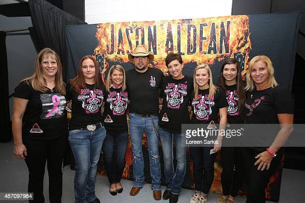 """Jason Aldean meet and greet his fans before his Ninth Annual """"Concert For The Cure"""" at The Palace of Auburn Hills on October 11, 2014 in Auburn..."""