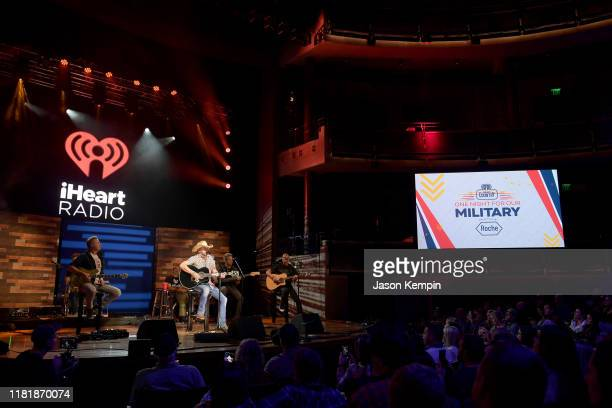 Jason Aldean performs during iHeartCountryOneNightForOurMilitary Presented by Rocheat the Country Music Hall of Fame on November 07 2019 in...