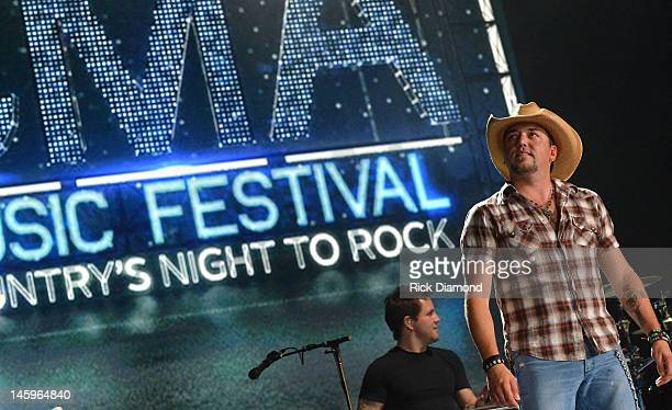 Jason Aldean performs during the 2012 CMA Music Festival Day 1 at LP Field on June 7 2012 in Nashville Tennessee