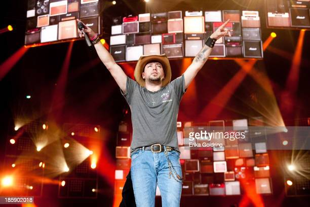 Jason Aldean performs during the 8th annual Susan G Komen Concert for the Cure at New Orleans Arena on October 25 2013 in New Orleans Louisiana