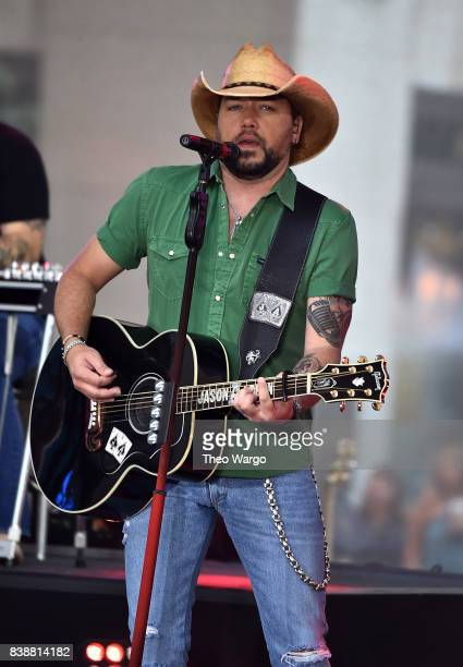 Jason Aldean performs on NBC's 'Today' at Rockefeller Plaza on August 25 2017 in New York City