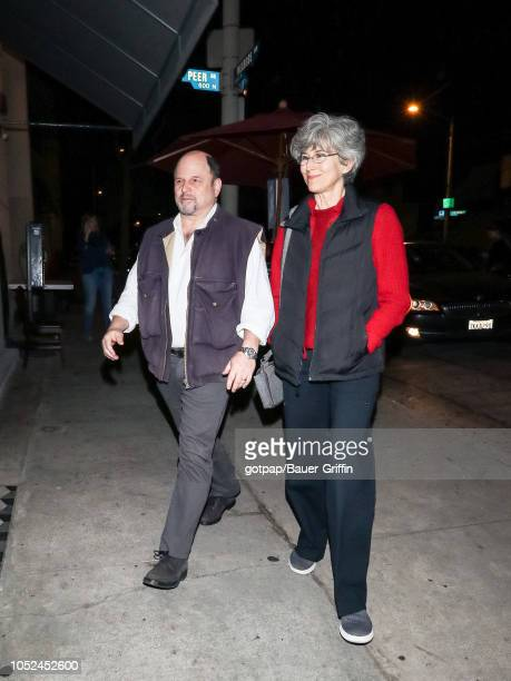 Jason Alexander and Daena Title are seen on October 17 2018 in Los Angeles California