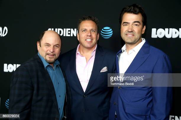 Jason Alexander Chris Long and Ron Livingston attend the ATT AUDIENCE Network Premieres Loudermilk And Hit The Road on October 10 2017 in Los Angeles...