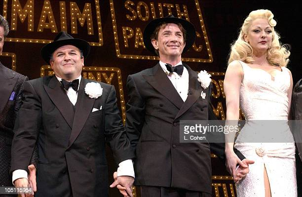 Jason Alexander Martin Short Angie Schworer during Opening Night of The Producers Curtain Call After Party at Pantages Theatre in Hollywood...