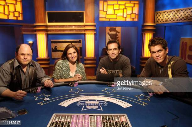 Jason Alexander Ricki Lake Jeff Probst and Steve Howey during Celebrity Blackjack Matt Vasgersian hosts Celebrity Blackjack a one hour weekly...