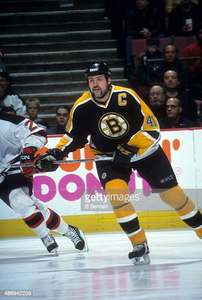 Jason Allison of the Boston Bruins skates on the ice during an NHL game against the New Jersey Devils on April 6, 2001 at the Continental Airlines...
