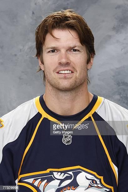 Jason Arnott of the Nashville Predators poses for his 2007 NHL headshot at photo day in Nashville Tennessee
