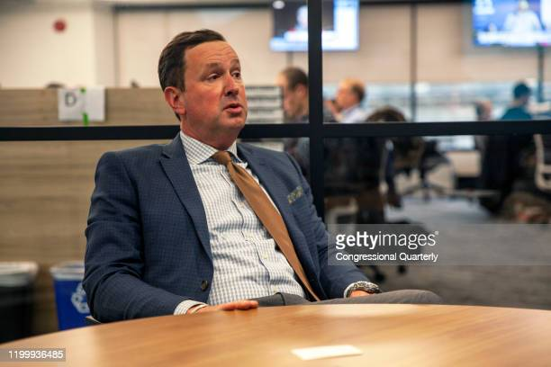 January 31: Jason Atkinson, candidate for Oregons 2nd congressional district, is interviewed by CQ-Roll Call, Inc via Getty Images at their D.C....