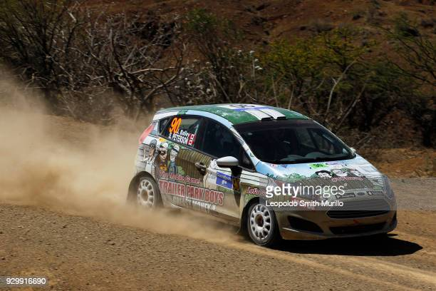 Jason Bailey and Shayne Peterson of Jason Bailey Team drive during the day two of the FIA World Rally Championship Mexico 2018 on March 9 2018 in...