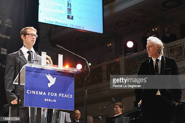 Jason Baldwin speaks at the Cinema for Peace Gala at the Konzerthaus Am Gendarmenmarkt during day five of the 62nd Berlin International Film Festival...