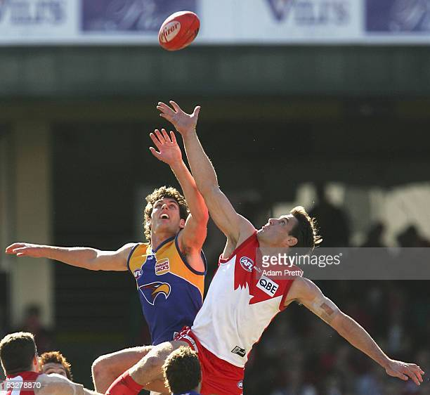 Jason Ball of the Swans in action during the round 17 AFL match between the Sydney Swans and the West Coast Eagles at the Sydney Cricket Ground July...