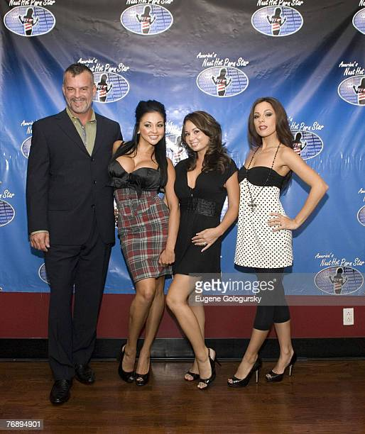 "Jason Bane, Holly West, Audrey Bitoni, and Kirsten Price at ""America's Next Hot Porn Star"" New York City Press Conference"