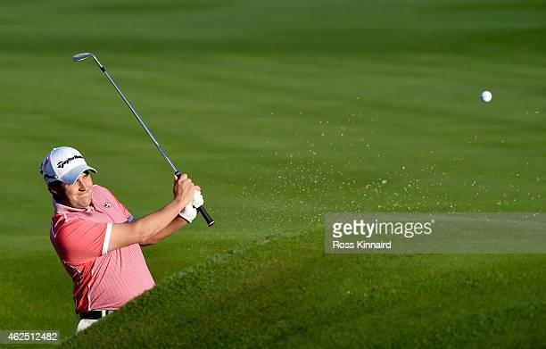 Jason Barnes of England in action during the second round of the Omega Dubai Desert Classic at the Emirates Golf Club on January 30 2015 in Dubai...