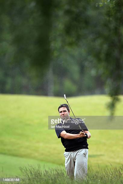 Jason Barnes of England looks on during the 2012 Scottish Hydro Challenge Day One at The Macdonald Spey Valley Golf Course on June 21 2012 in...