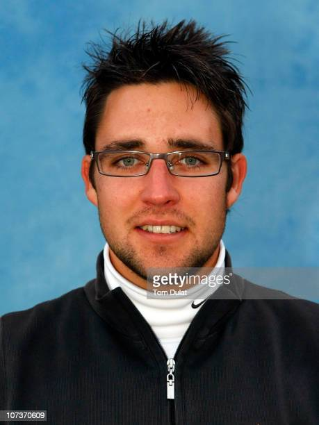 Jason Barnes of England poses for a portrait photo during the continuation of the first round of the European Tour Qualifying School Final Stage at...
