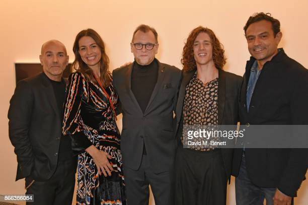 Jason Basmajian Yana Peel Stuart Ford Travis ClausenKnight and Karim Zeriahe attend the Cerruti 1881 50th anniversary film premiere at The Serpentine...