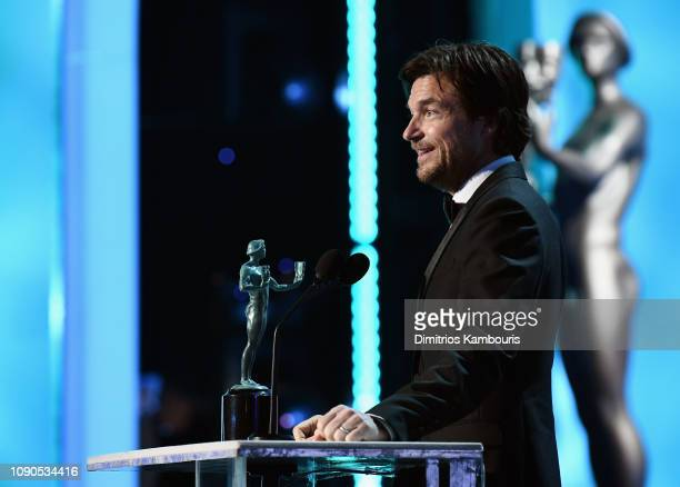 Jason Bateman accepts award onstage for Outstanding Performance by a Male Actor in a Drama Series in 'Ozark' during the 25th Annual Screen...