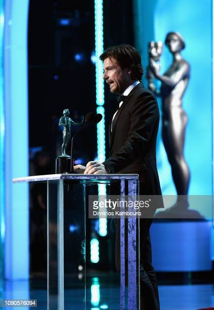 Jason Bateman accepts the award for outstanding Performance by a Male Actor in a Drama Series for 'Ozark' onstage during the 25th Annual Screen...