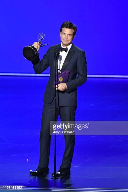 """Jason Bateman accepts the Outstanding Directing for a Drama Series award for """"Ozark"""" onstage during the 71st Emmy Awards at Microsoft Theater on..."""
