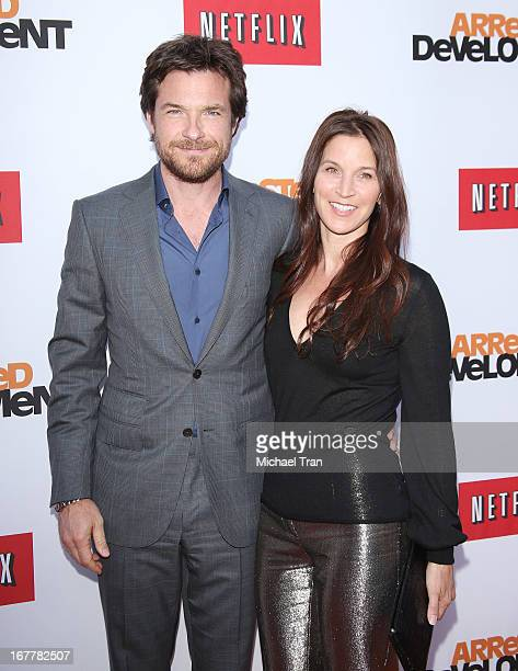 Jason Bateman and Amanda Anka arrive at Netflix's Los Angeles premiere of Arrested Development season 4 held at TCL Chinese Theatre on April 29 2013...