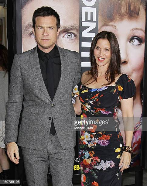"""Jason Bateman and Amanda Anka arrive at the Los Angeles premiere of """"Identity Thief"""" held at Mann Village Theatre on February 4, 2013 in Westwood,..."""