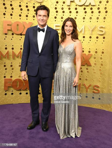 Jason Bateman and Amanda Anka arrives at the 71st Emmy Awards at Microsoft Theater on September 22 2019 in Los Angeles California