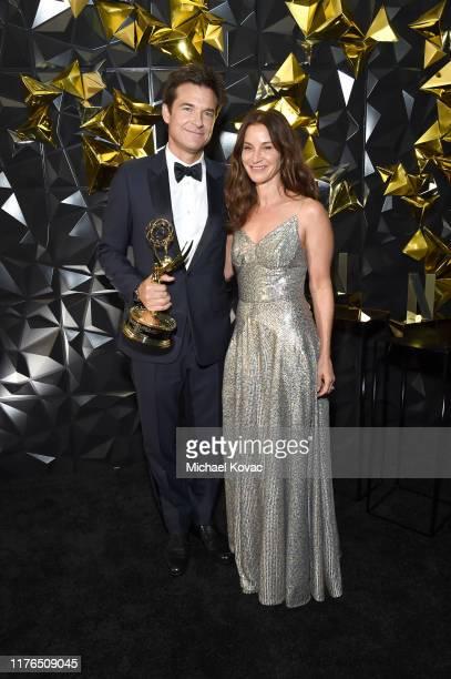 Jason Bateman and Amanda Anka attend the 2019 Netflix Primetime Emmy Awards After Party at Milk Studios on September 22, 2019 in Los Angeles,...