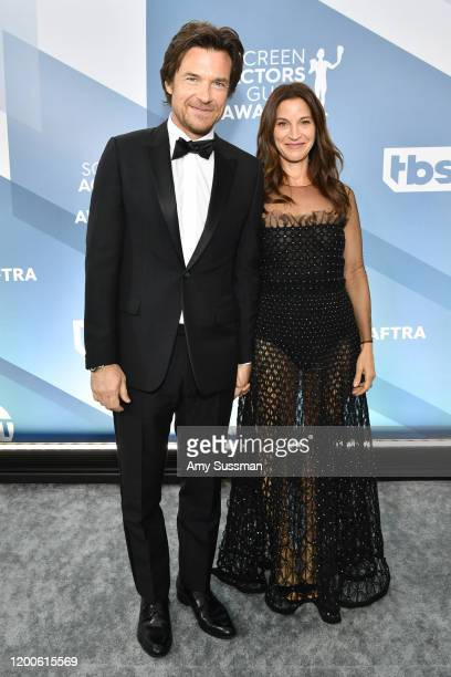 Jason Bateman and Amanda Anka attend the 26th Annual Screen ActorsGuild Awards at The Shrine Auditorium on January 19, 2020 in Los Angeles,...