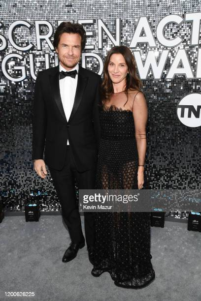 Jason Bateman and Amanda Anka attend the 26th Annual Screen Actors Guild Awards at The Shrine Auditorium on January 19 2020 in Los Angeles California...