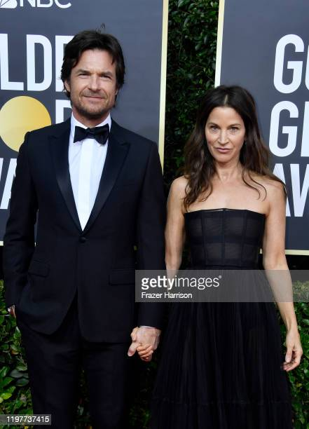 Jason Bateman and Amanda Anka attend the 77th Annual Golden Globe Awards at The Beverly Hilton Hotel on January 05 2020 in Beverly Hills California
