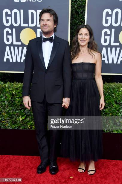 Jason Bateman and Amanda Anka attend the 77th Annual Golden Globe Awards at The Beverly Hilton Hotel on January 05, 2020 in Beverly Hills, California.