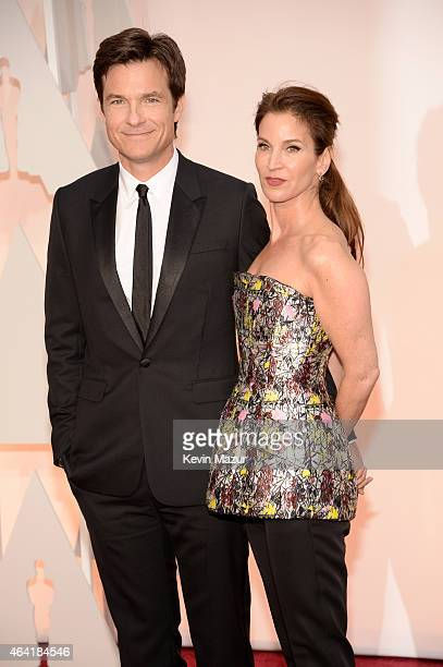 Jason Bateman and Amanda Anka attend the 87th Annual Academy Awards at Hollywood Highland Center on February 22 2015 in Hollywood California