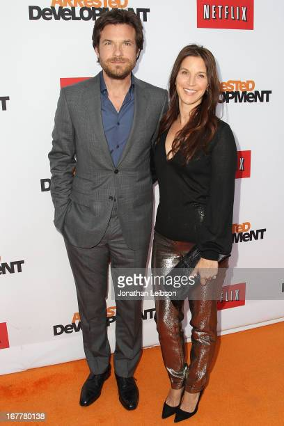 Jason Bateman and Amanda Anka attend the Netflix's Los Angeles Premiere Of Arrested Development Season 4 at TCL Chinese Theatre on April 29 2013 in...