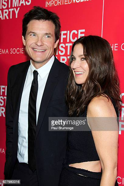 Jason Bateman and Amanda Anka attend the Paramount Pictures with Paramount Pictures with The Cinema Society Svedka Host a Screening of Office...