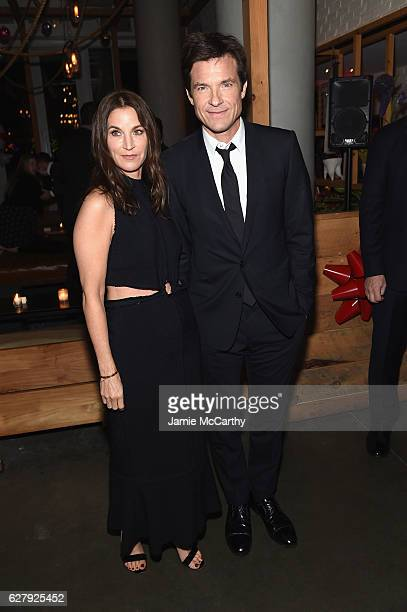 Jason Bateman and Amanda Anka attend the Paramount Pictures with The Cinema Society Svedka Host An After Party For 'Office Christmas Party' at Mr...