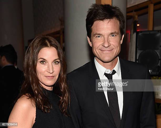 Jason Bateman and Amanda Anka attend the Paramount Pictures with The Cinema Society Svedka Host An After Party For Office Christmas Party at Mr...