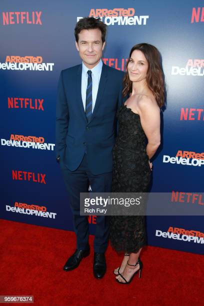 Jason Bateman and Amanda Anka attend the premiere of Netflix's Arrested Development Season 5 at Netflix FYSee Theater on May 17 2018 in Los Angeles...