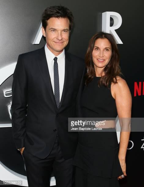 Jason Bateman and Amanda Anka attend the premiere of Netflix's 'Ozark' Season 2 at the Arclight Theatre on August 23 2018 in Los Angeles California