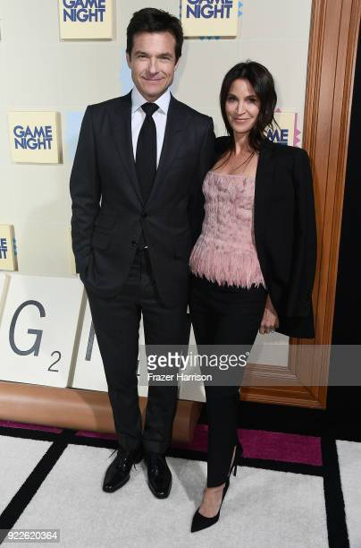 Jason Bateman and Amanda Anka attend the Premiere of New Line Cinema And Warner Bros Pictures' Game Night at TCL Chinese Theatre on February 21 2018...